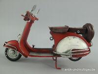 17cm roter Vespa Roller Blech Modell Piaggio Scooter Motorroller Metall Geschenk