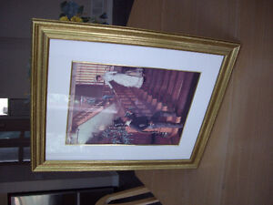 Like New Gold Colour Frame Wall Art Ready To Hang