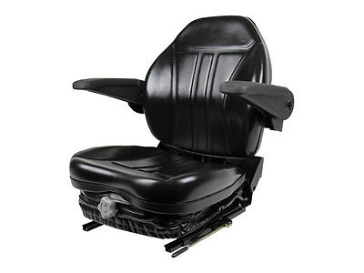 BLACK SUSPENSION SEAT W/ ARM RESTS ZTR ZERO TURN MOWER, GRASSHOPPER, HUSTLER #KT