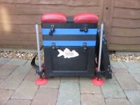 Watercraft seat box complete with legs