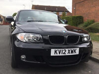 BMW 1SERIES 2012 PETROL M-SPORT M-SERIES 6-SPEED MANUAL LOW MILEAGE FRONT AND BACK PARKING SENSORS