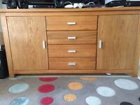 Wooden Sideboard – Oak – Excellent Condition – Can Deliver