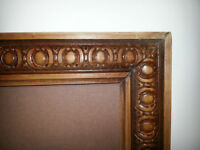 62 Year old pure Teak Wood Picture Frame with Carving