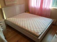 IKEA WHITE QUEEN BED AND MATTRESS LIKE NEW
