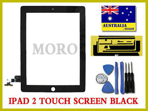 Black-Apple-iPad-2-A1395-A1396-Wifi-3G-Touch-Screen-Glass-Digitizer-Replacement
