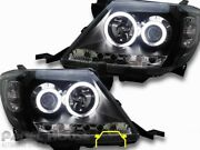 Headlights HALO Projector Black DRL Fits Toyota Hilux 05 - 11 Slacks Creek Logan Area Preview