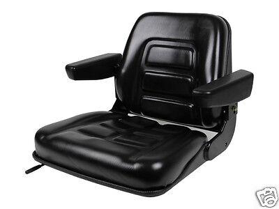 New Black Seat For Excavatorforkliftskid Loaderbackhoedozertelehandler Bu