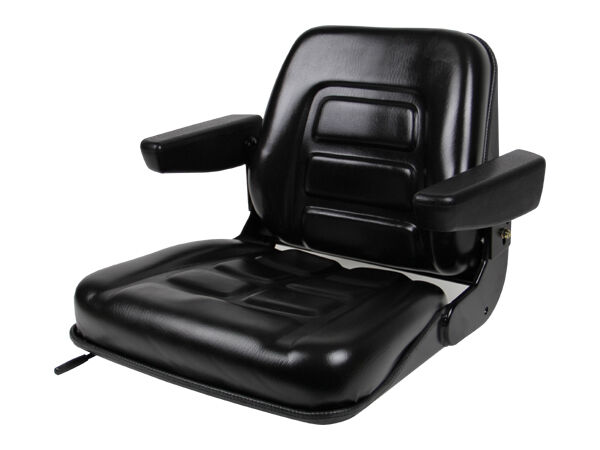 NEW BLACK SEAT FOR EXCAVATOR,FORKLIFT,SKID LOADER,BACKHOE,DOZER,TELEHANDLER #BU
