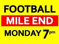Friendly 5-a-side football in Mile End. Casual group. Needs new players!