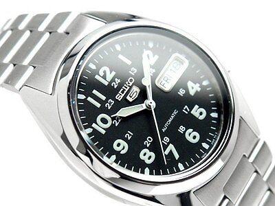 SEIKO 5 SNX809 SNX809K1 21 Jewels Automatic Army Black 30m WR !