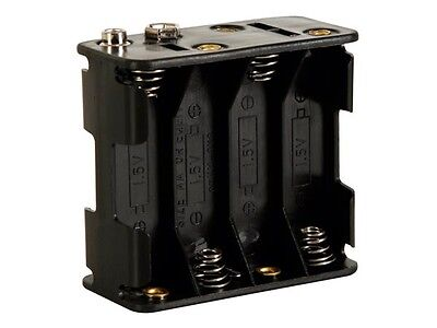 8 Cell Battery Holder - Velleman BH383B BATTERY HOLDER FOR 8 x AA-CELL (WITH SNAP TERMINALS)