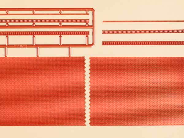 Auhagen H0 41205: 2 Ziegelmauern mit Zahnfriesvarianten