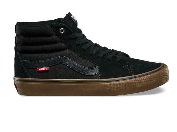 Vans Men's Sk8 Hi Pro Black Gum Skate Shoes VN000VHGB9M $65