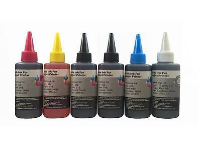 6 Bulk refill ink for HP inkjet printer 6 colors 6x100ml -