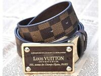 Louis Vuitton lv Inventeur Damier Belt XX