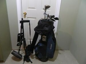 Golfmate Bag with cover and clubs