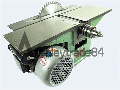 New Bench Multifunctional Woodworking Machine For Planing Sawing Drilling 220v