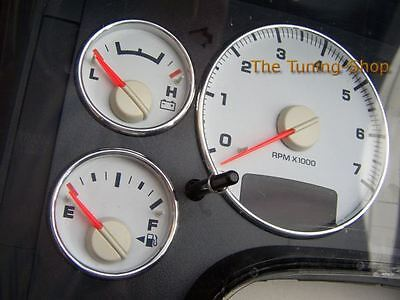 For Dodge RAM 1500 2500 3500 Aluminium Gauge Dial Rings Chrome Trim Surrounds
