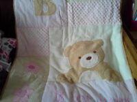 kidsline B is for bear 3 piece cot set
