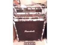 Randall V-Max Guitar Amplifier (Head and 4x12 Cab i.e. Half Stack) in limited edition White Camo