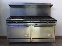 Southbend Gas 10 Burner Range with Double Oven