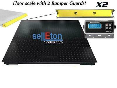 60 X 60 5 X 5 Floor Scale Pallet Size With 2 Bumper Guards 5000 Lbs X 1 Lb