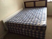 Kingsize divan bed with mattress-Free delivery