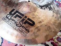 """Cymbals for sale - """"20 ride - """"16 crash - """"12 hi hat"""