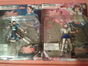 2 Rare Street Fighter Collectible figures 2005 Japanese serie