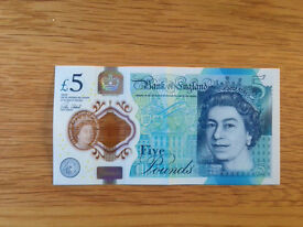 Rare £5 note, collectable.