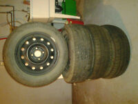 14 x 6 steel rims with tires