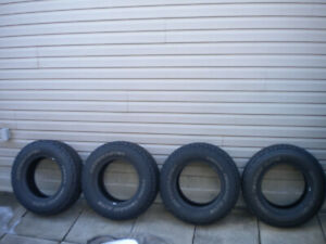 Four LT265/70/17 tires in excellent condition