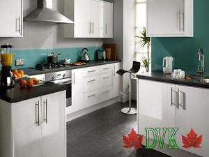 Kitchen Cabinets on sales - High Glossy White