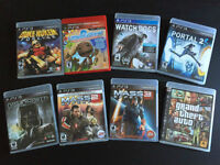 Lot of de 8 Playstation 3 PS3 Games Jeux Mass Effect Watch Dogs