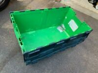 Large heavy duty shipping stackable storage crate