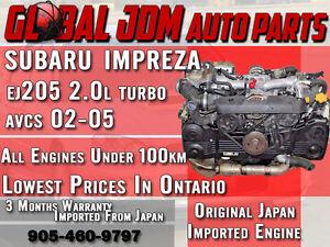 JDM Subaru 02-05 Impreza WRX EJ20 EJ205 2.0L AVCS Turbo Engine