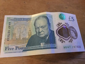New AK47 £5 note