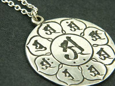 Whitemetal Buddhist Pendant Top ; TAIZOKAI MANDALA (Womb Realms)