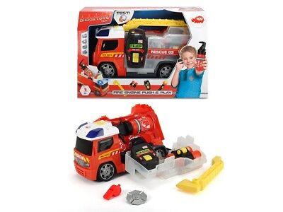 Dickie 203716006 - Bomberos / Fire Engine Push & Play Set Con...