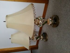 pair  Capdimonte lamps from Italy London Ontario image 1