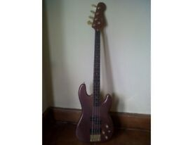 NINJA Axis KB24/MBC solid body P/J electric bass guitar