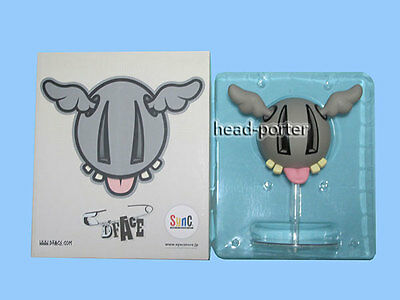 Sync by MEDICOM TOY D*FACE D*DOG Vinyl FIGURE Gray Including Stand dface ddog
