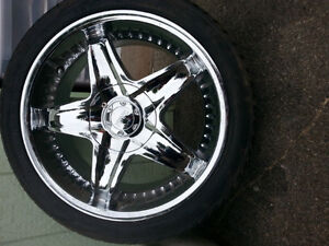 New Chrome Rims with Rubber