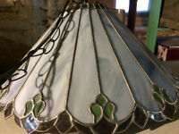 Tiffany style stained glass light fixture