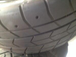 "Toyo Proxes RA1 205 50 15 on Honda oem 15"" 4x100 steel rims (2)"