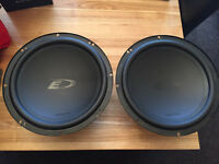 2 x 12 inch subs Alpine Type E - 650 watts each