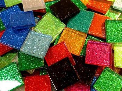 A Mix of Mosaic Glitter Tiles. Arts and Crafts, Card Making,. Glass Tessera