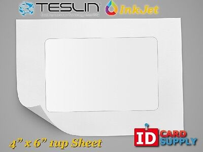 Teslin Synthetic Paper - 4 X 6 Perforated 1-up Inkjet Sheet