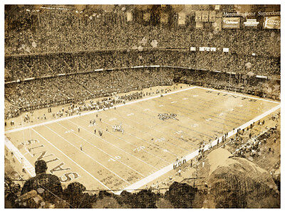 New Orleans Saints Poster Print Sketch Wall Art Man Cave Decor - New Orleans Saints Decor