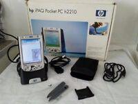HP iPAQ Pocket h2210 + wifi card + GPS